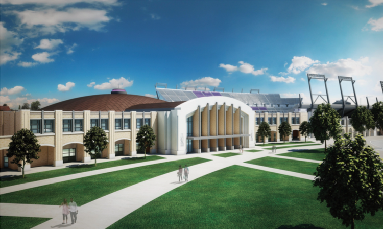The renovated Daniel Meyer Athletic Complex is one of the many construction projects revamping TCU.
