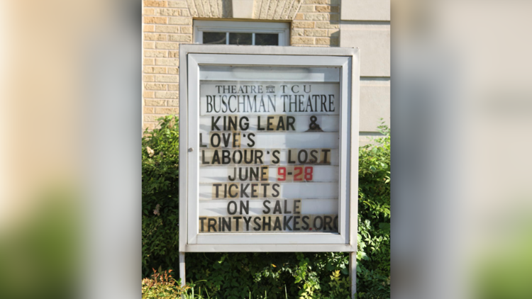 "The Trinity Shakespeare Festival will feature ""King Lear"" and ""Love's Labour's Lost"". The shows will be performed in Buschman and Hays theaters."