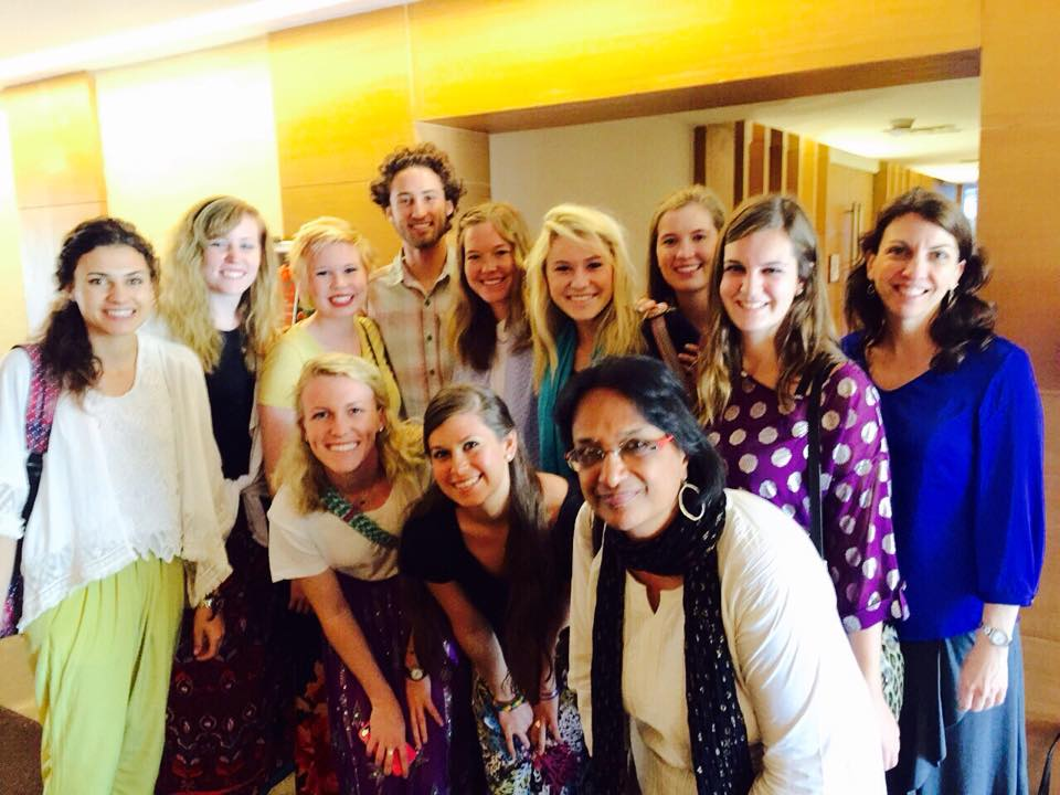 The study abroad group at the U.S. embassy in Delhi, India.