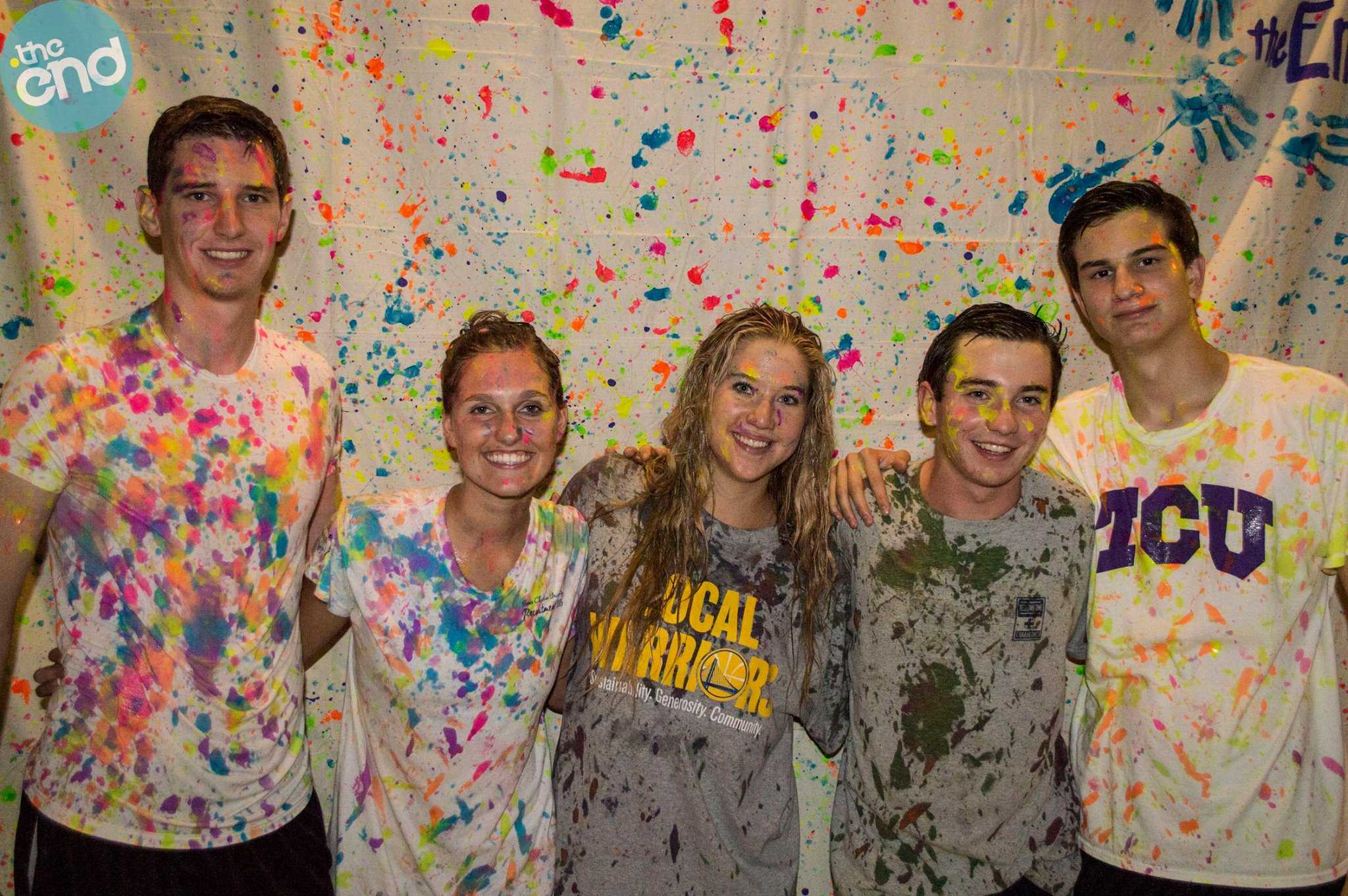 theEnd's paint party covered students in color.