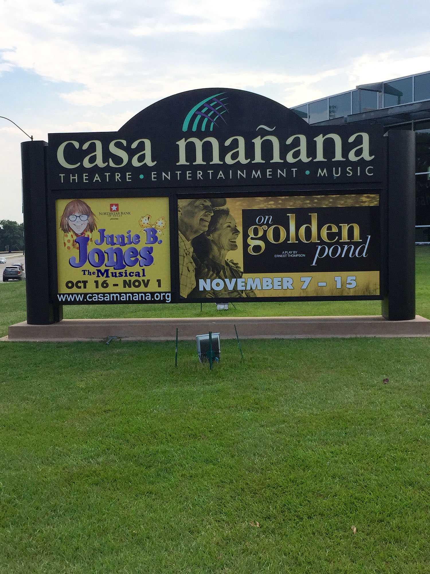 Casa Manana advertises for it's current show, Junie B. Jones.