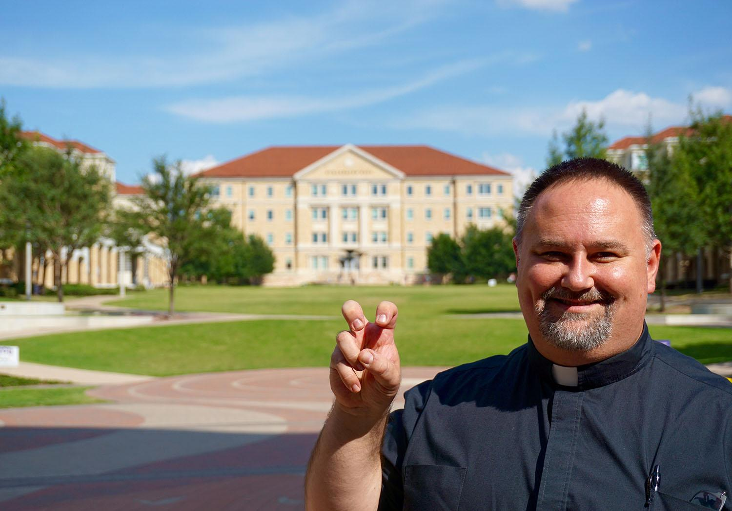 Rev. James Wilcox is officially the new TCU Catholic chaplain.