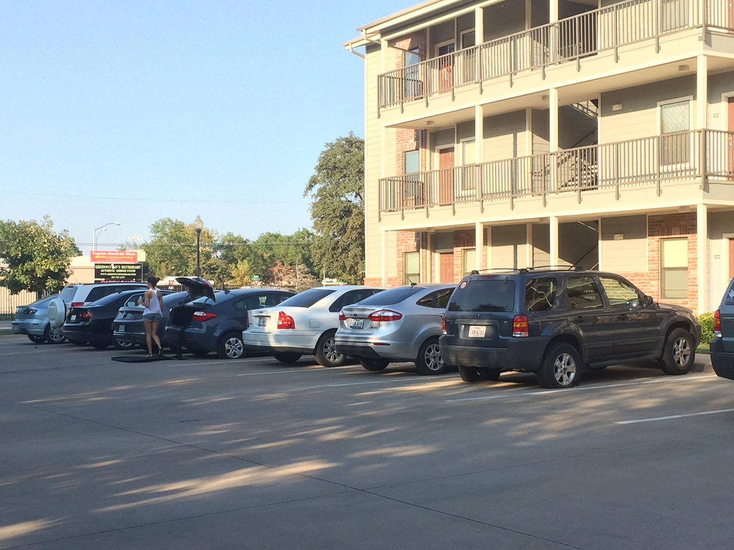 Several tires at Edge 55 Apartments were slashed last weekend, sparking new security measures for the complex.