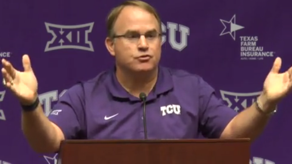 Coach Gary Patterson talks about Tuaua and Texas Tech at his Tuesday press conference