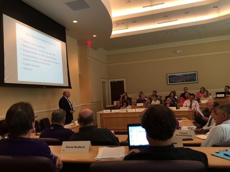 TCU Faculty Senate discusses Campus Carry legislation.
