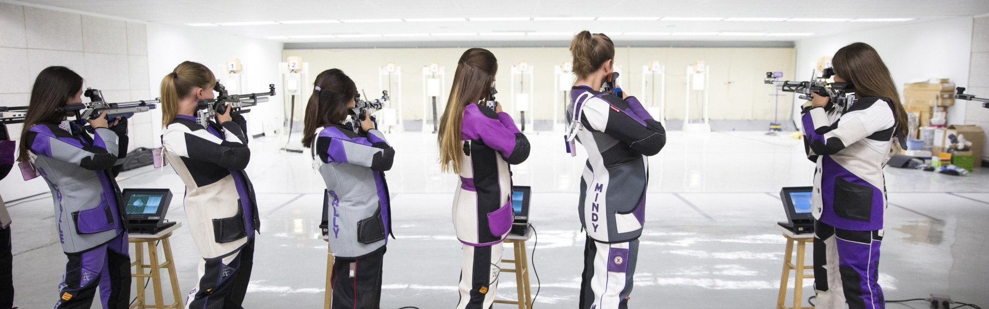 TCU Rifle Team photographed on the Campus of TCU in Fort Worth, Texas on August 28, 2015.