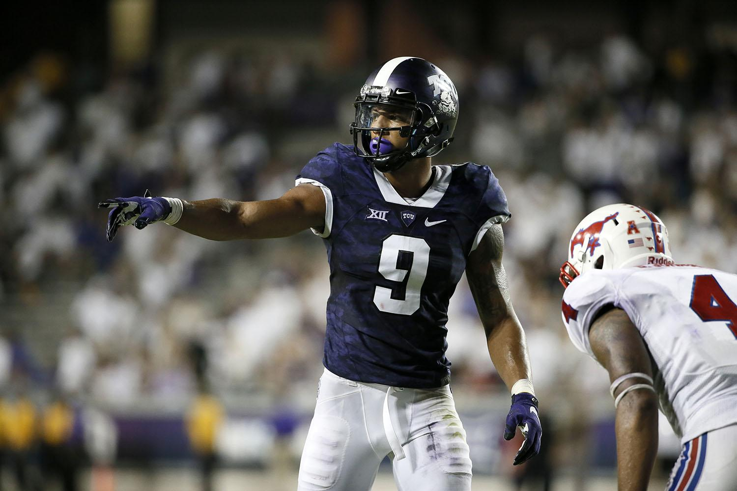 Josh Doctson is projected to be a first-round pick this year. (AP Photo/Tony Gutierrez)