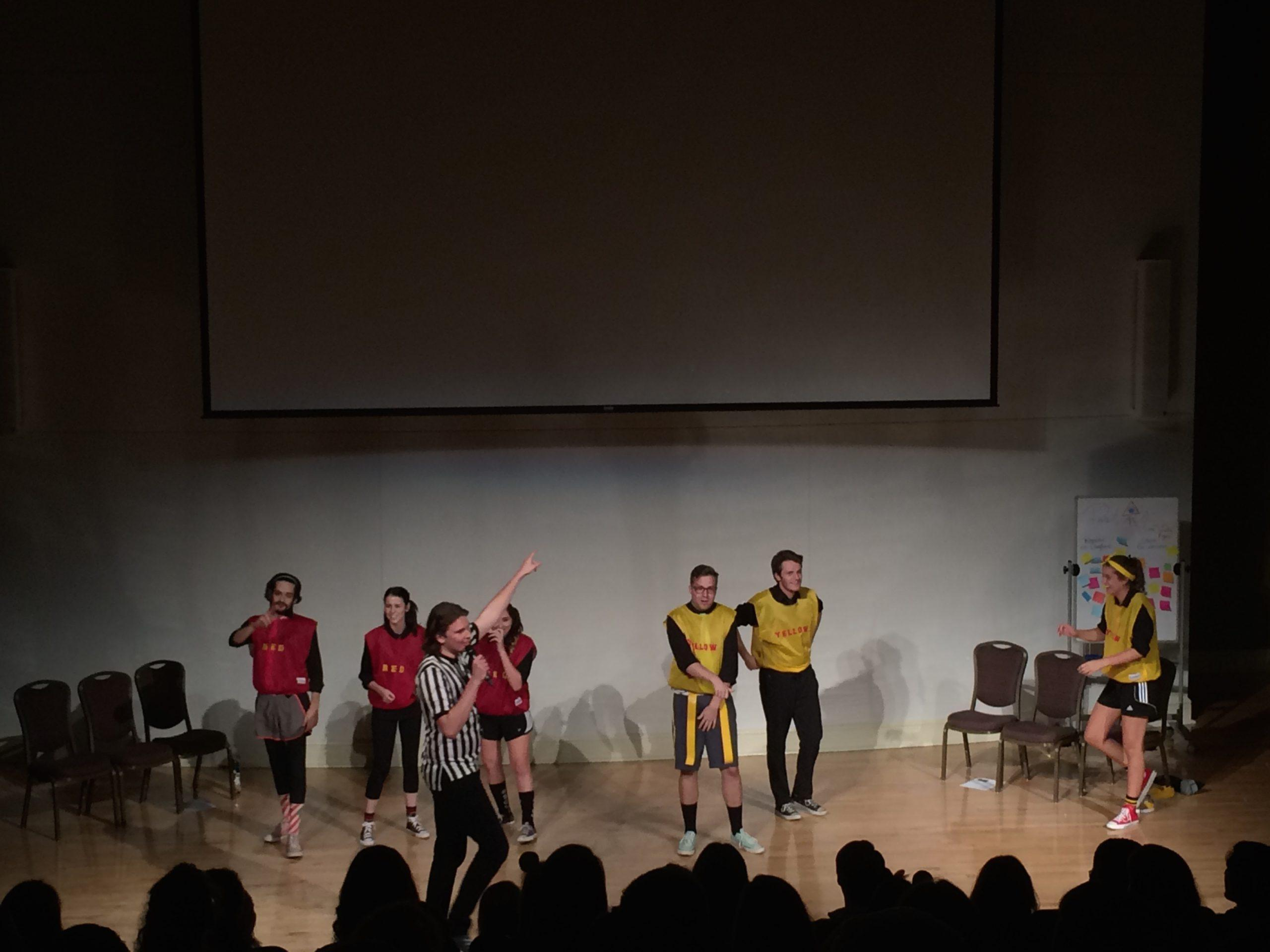 The red and yellow teams went head to head in Senseless Acts of Comedy's first versus show last night.