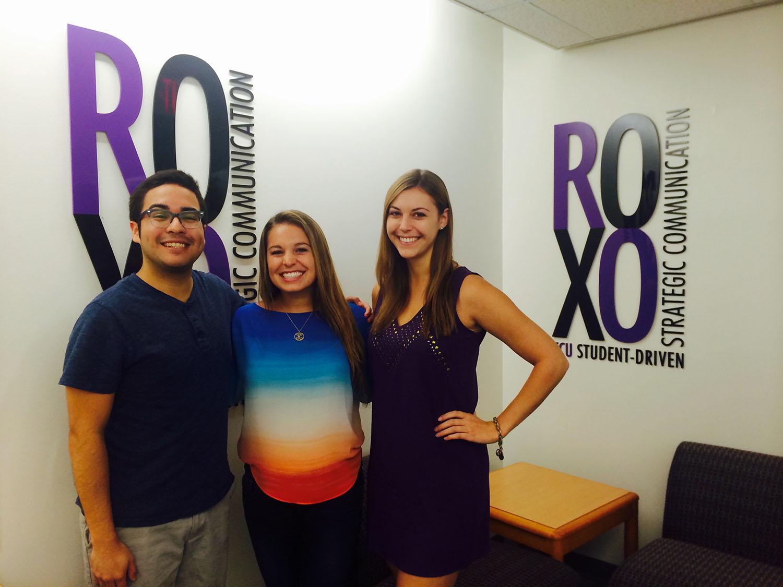 Roxo students from left: Oscar Roel, Kelli Massey, Taylor Hardy