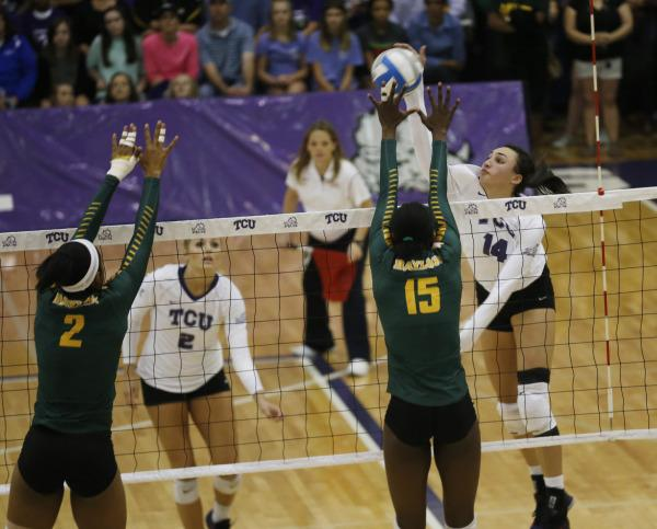 TCU vs Baylor at the TCU Campus Recreation Center on Oct. 21, 2015.