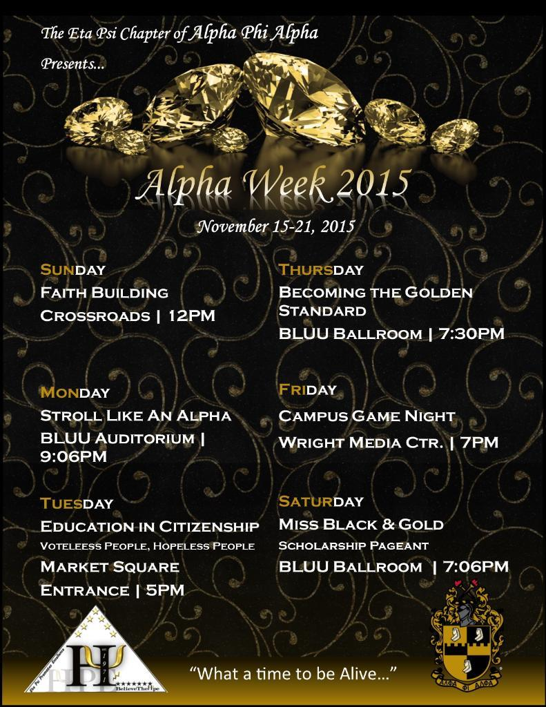 Alpha Phi Alpha seeks to enrich TCU's campus with Alpha Week events