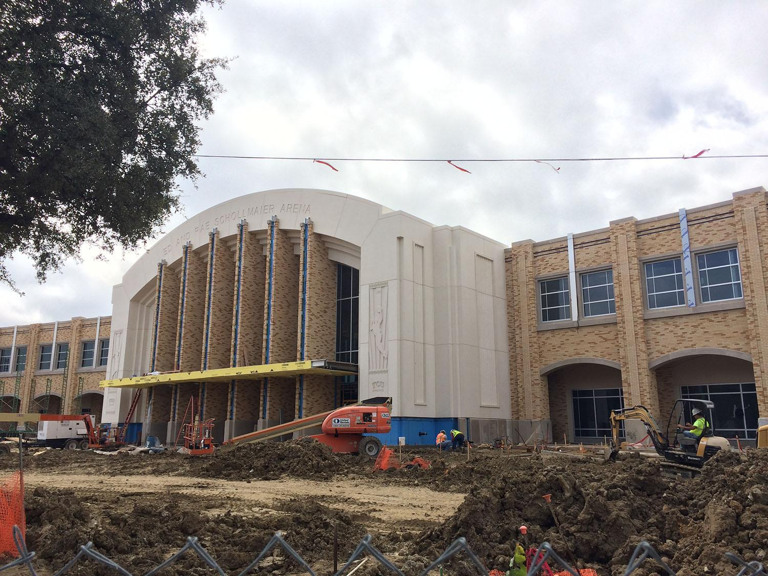 TCU's new basketball arena will not open on time for the start of the men's and women's basketball seasons.