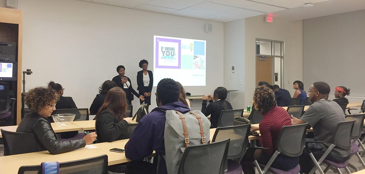 """Students gathered in Reese-Jones Hall on Tuesday evening for the STARS event, """"Brand Yourself."""""""