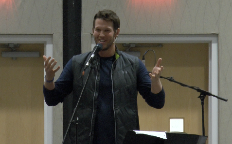 Clayton Kershaw gives his testimony at Ignite