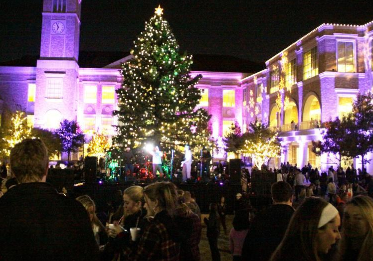 The TCU Christmas Tree Lighting has become an annual tradition in Fort Worth.