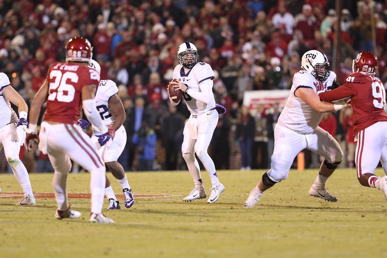 TCU fell to Oklahoma 30-29 in Norman, Oklahoma Saturday night.