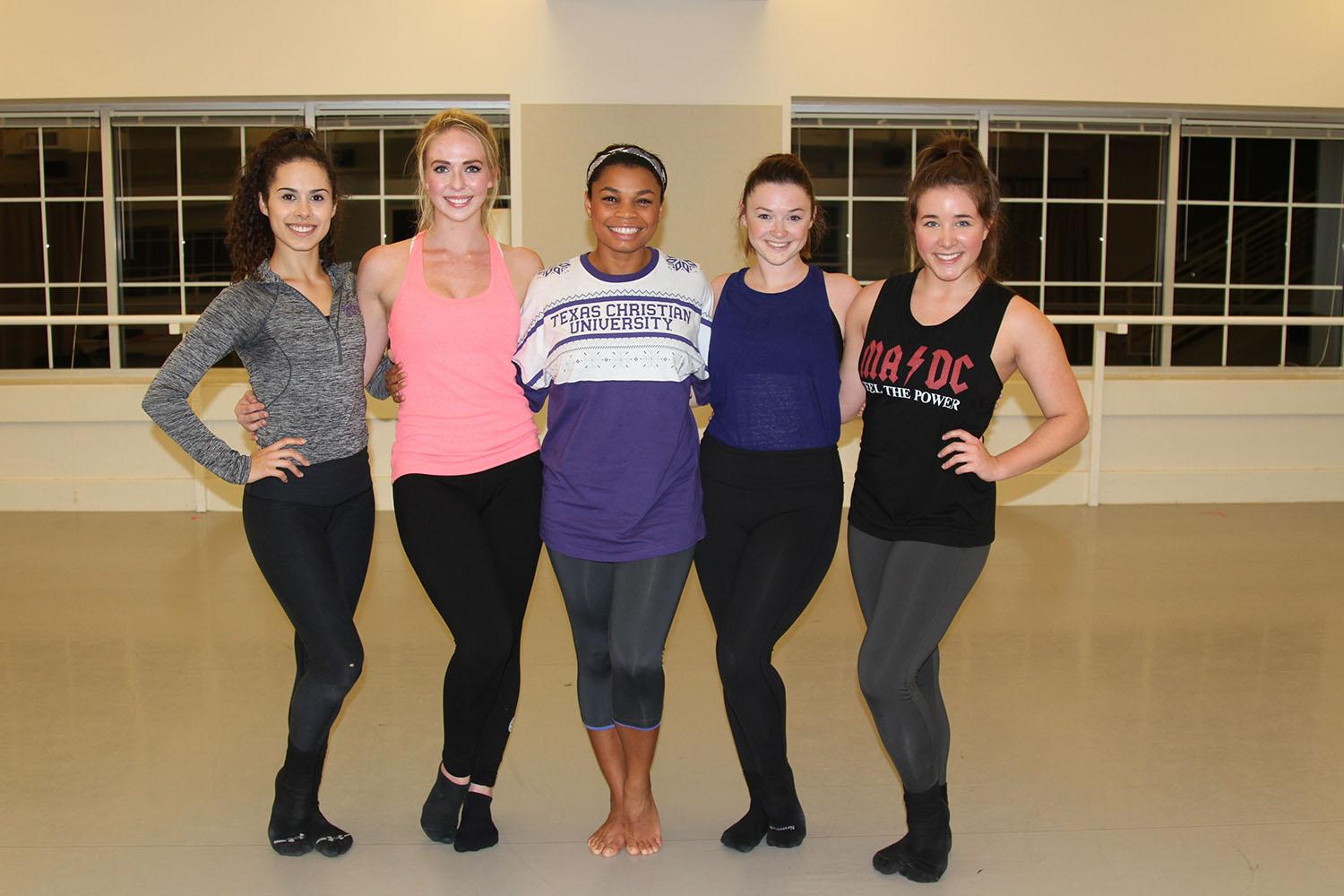 Krista Kee (middle) and her cast members (from left: Leah Williams, Erin Sauerhage, Karly Wilkins, and Rebecca Carwile)