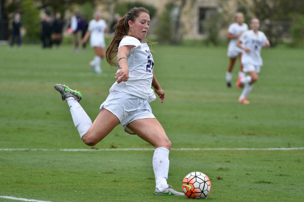 Sophomore Emma Heckendorn takes a shot against Oklahoma on Oct. 25.
