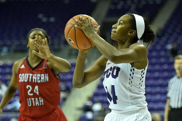 TCU guard Zahna Medley takes a shot in Sunday's victory over Southern Utah.