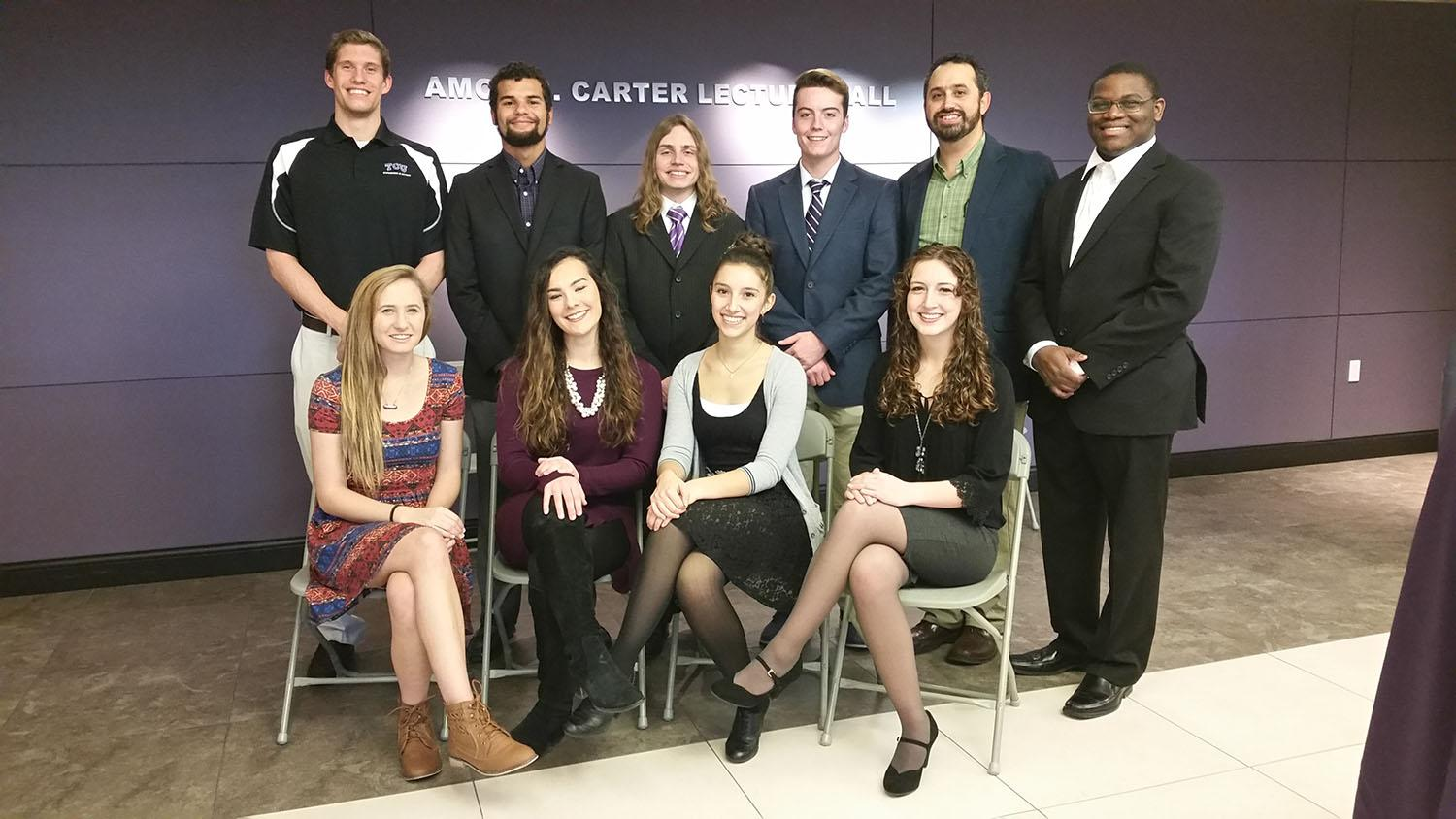 Nine TCU students tackled some major civil rights issues on Wednesday. (Photo courtesy Max Krochmal)