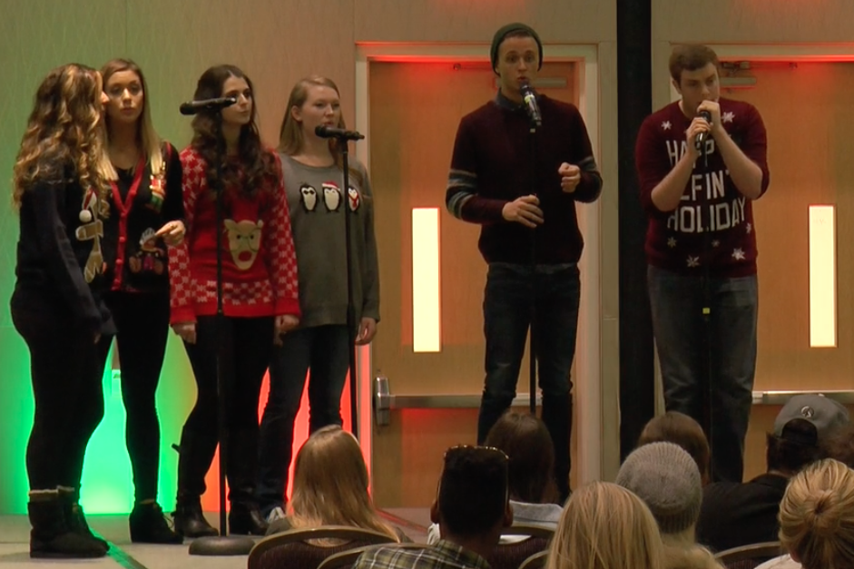 TCU's mixed A Cappella group License to Trill was one of the groups who performed in the A Cappella Christmas concert.