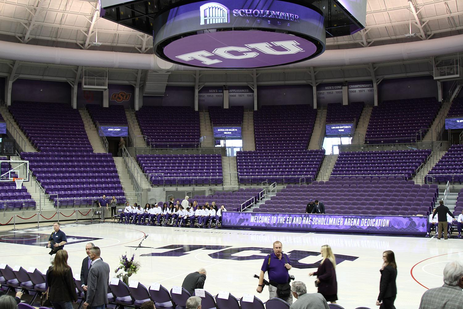 The new basketball arena opened Tuesday for a dedication.