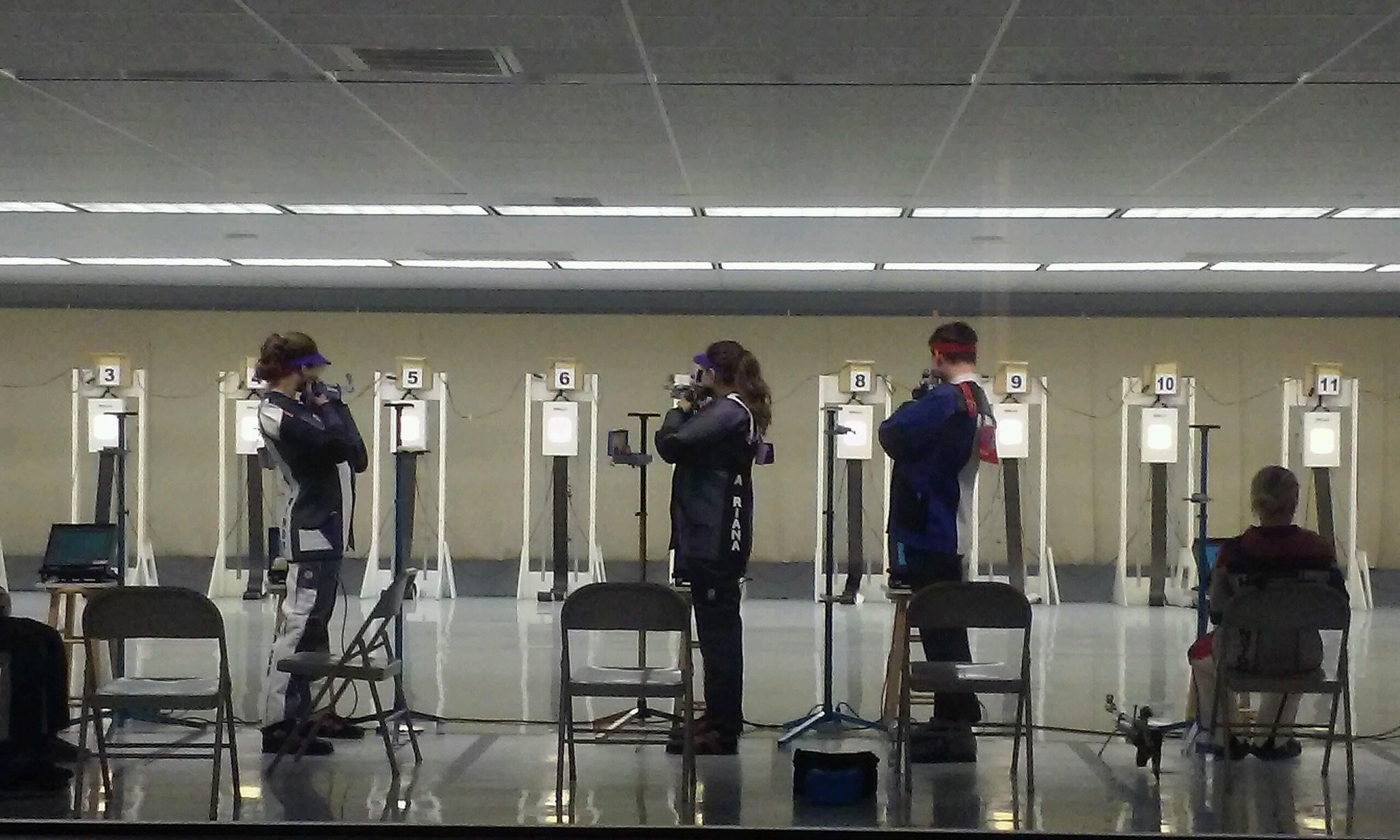 Shooters take aim during TCU rifle's win over the Coast Guard in Fort Worth on Jan. 31.