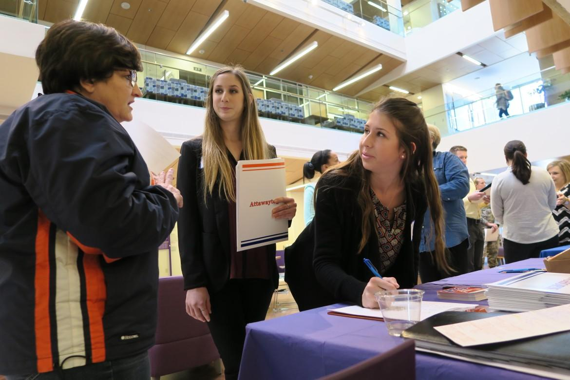 Nursing Students Spoke With Recruiters About Potential Job Opportunities.