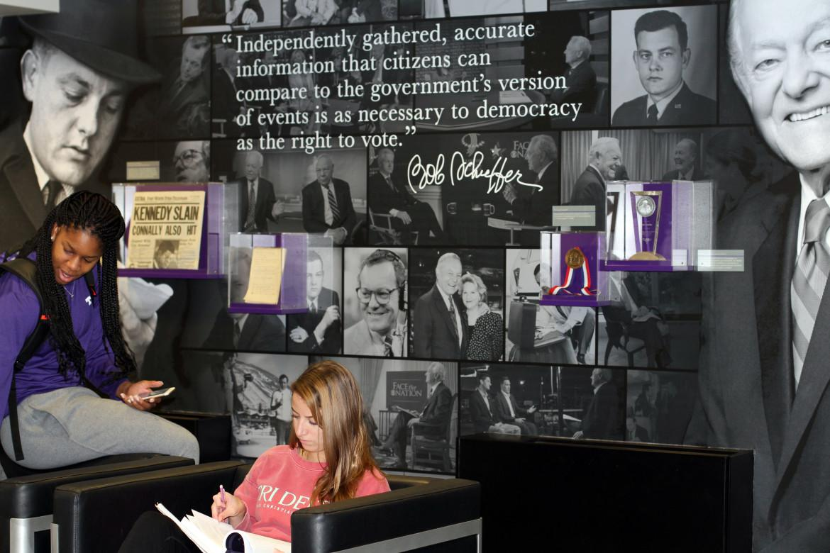 Ahead of the 2014 Schieffer Symposium, the College of Communication unveiled a special room dedicated to Schieffer's career and legacy. The room sits on the first floor of Moudy South.