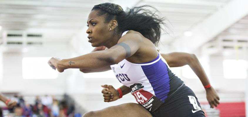 Senior Brianna McGhee broke an 11-year-old school record at the Reveille Invitational in December. (GoFrogs.com)