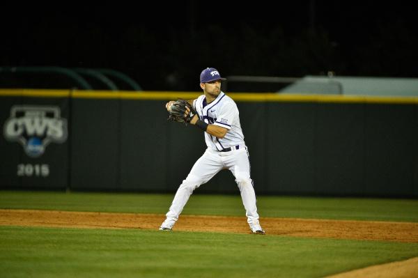 Shortstop Ryan Merrill in the season opener against Loyola Marymount