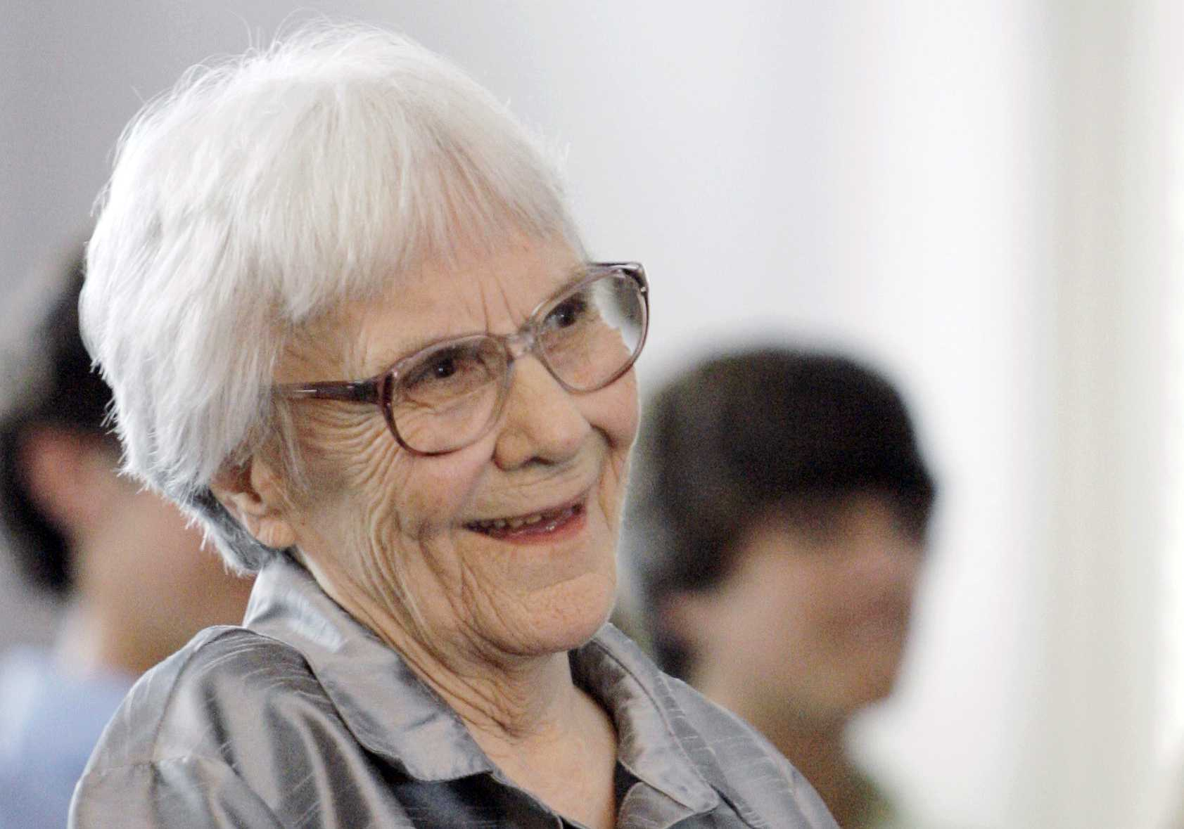"""In this Aug. 20, 2007 photo, """"To Kill A Mockingbird"""" author Harper Lee smiles during a ceremony honoring the four new members of the Alabama Academy of Honor, in Montgomery, Ala."""