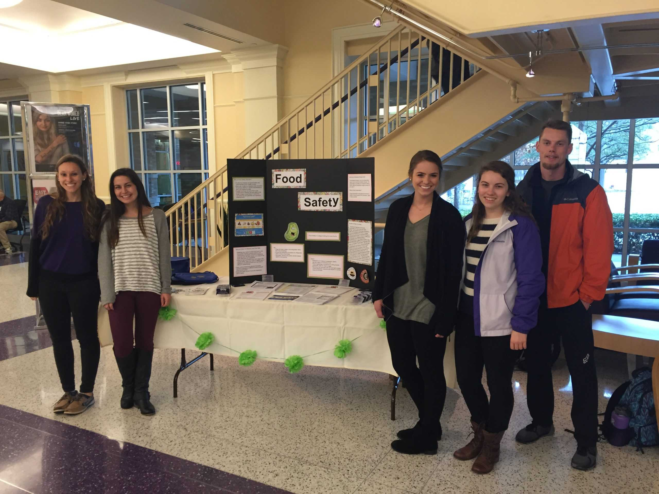 Nutrition students hosted a health fair on food safety.