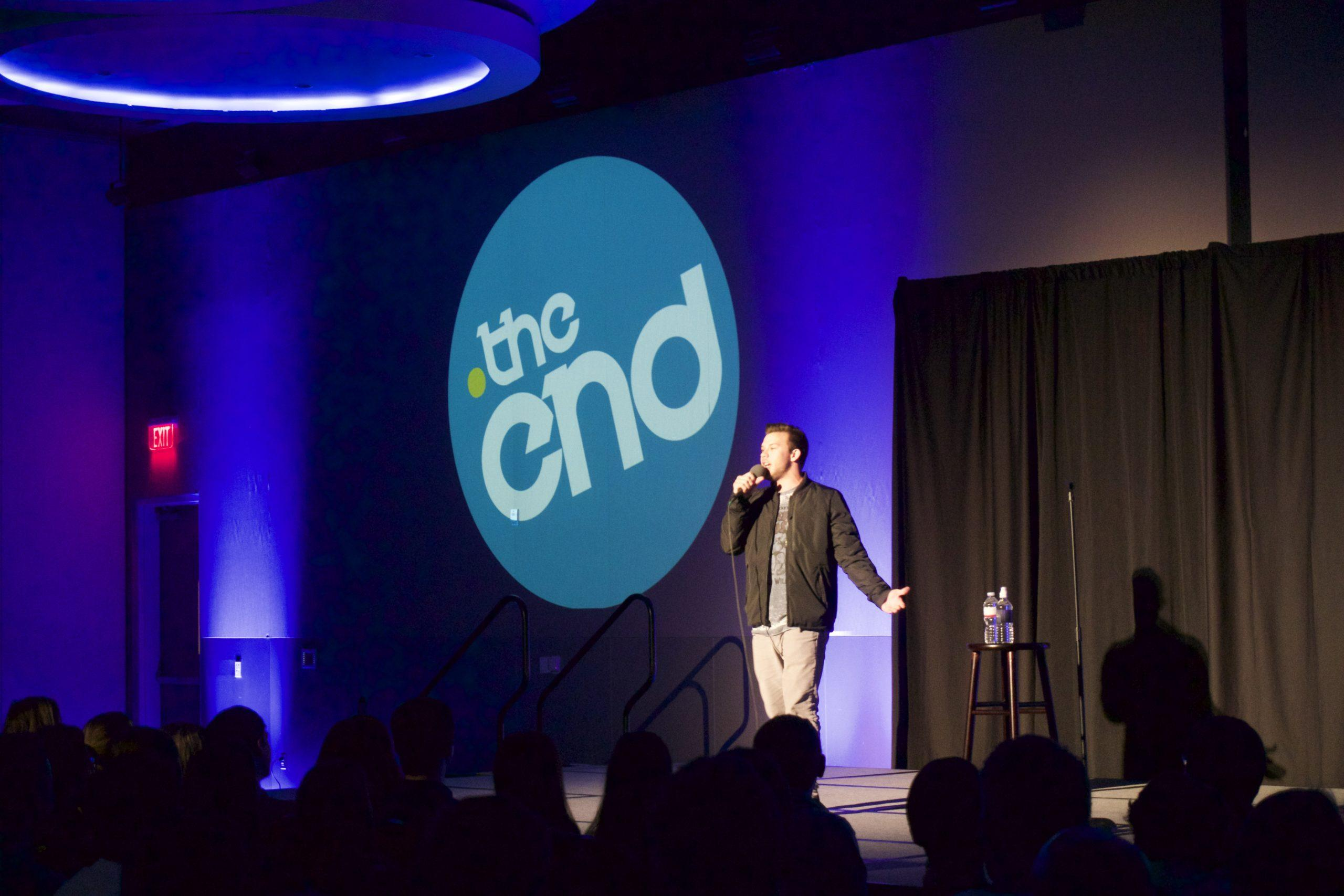 """Comedian Jimmy Tatro came to TCU to perform his  comedy show """"Memoirs of a College Dropout."""""""