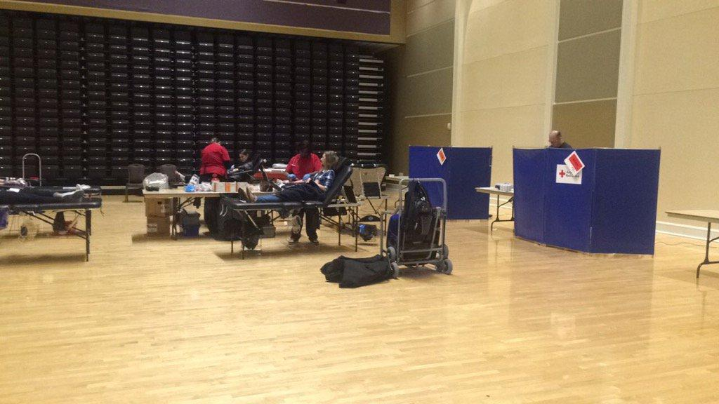 Students donated blood at the American Red Cross of North Texas and theCrew's annual blood drive on Tues., Feb. 16, 2016.