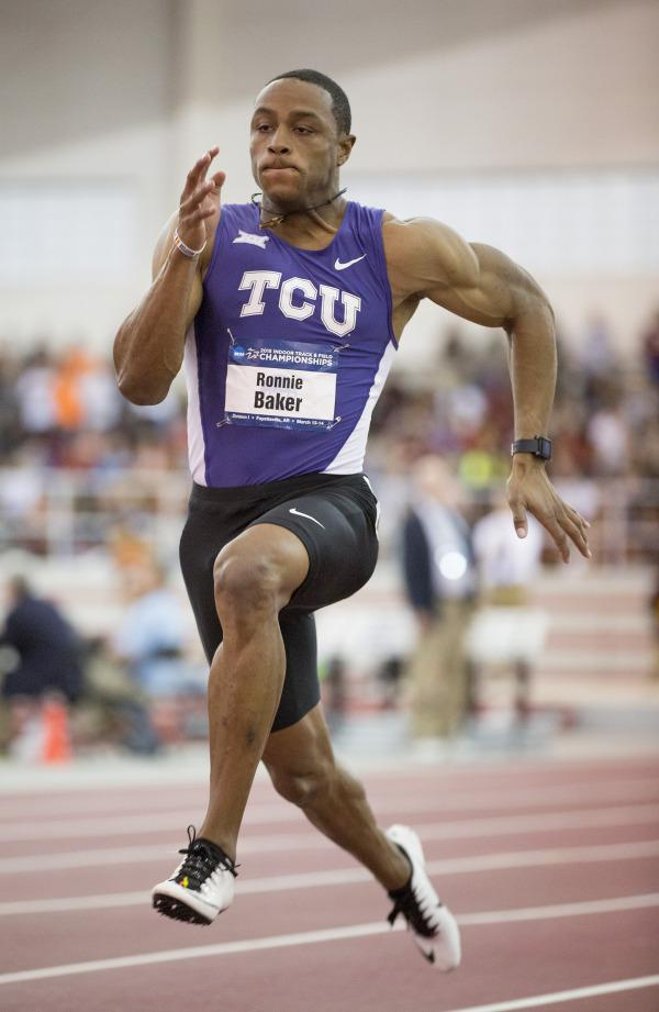 Ronnie Baker defends NCAA 60 meter title