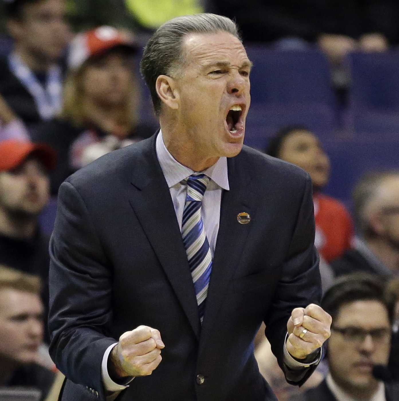 Pittsburgh coach Jamie Dixon yells on the sideline during the first round of the NCAA tournament on March 18.