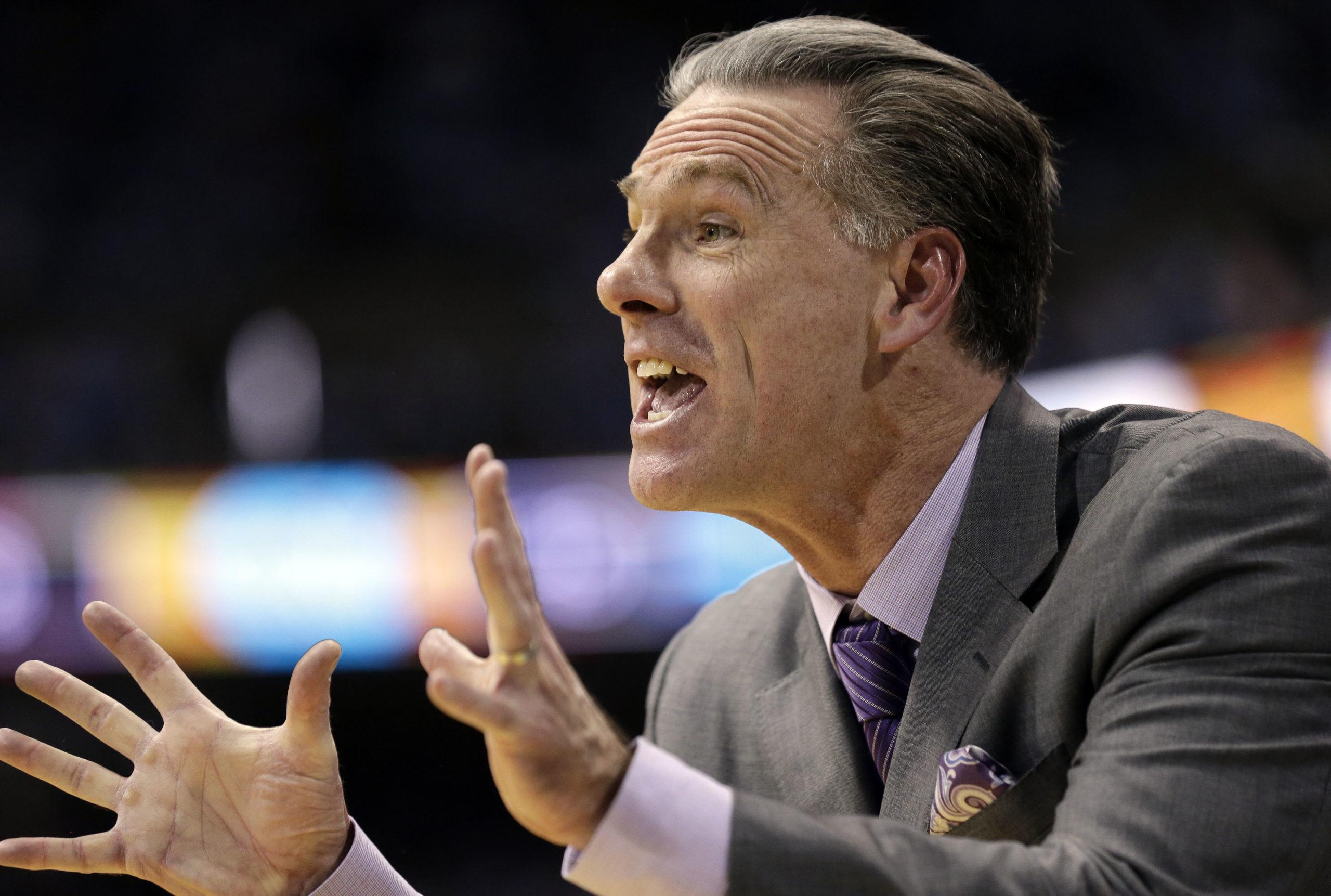 Jamie Dixon will return home to TCU to become the next men's basketball coach, sources indicate. (AP Photo/Gerry Broome)