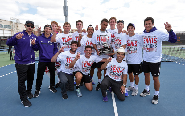 The TCU men's tennis team claimed the Big 12 Championship on Sunday.