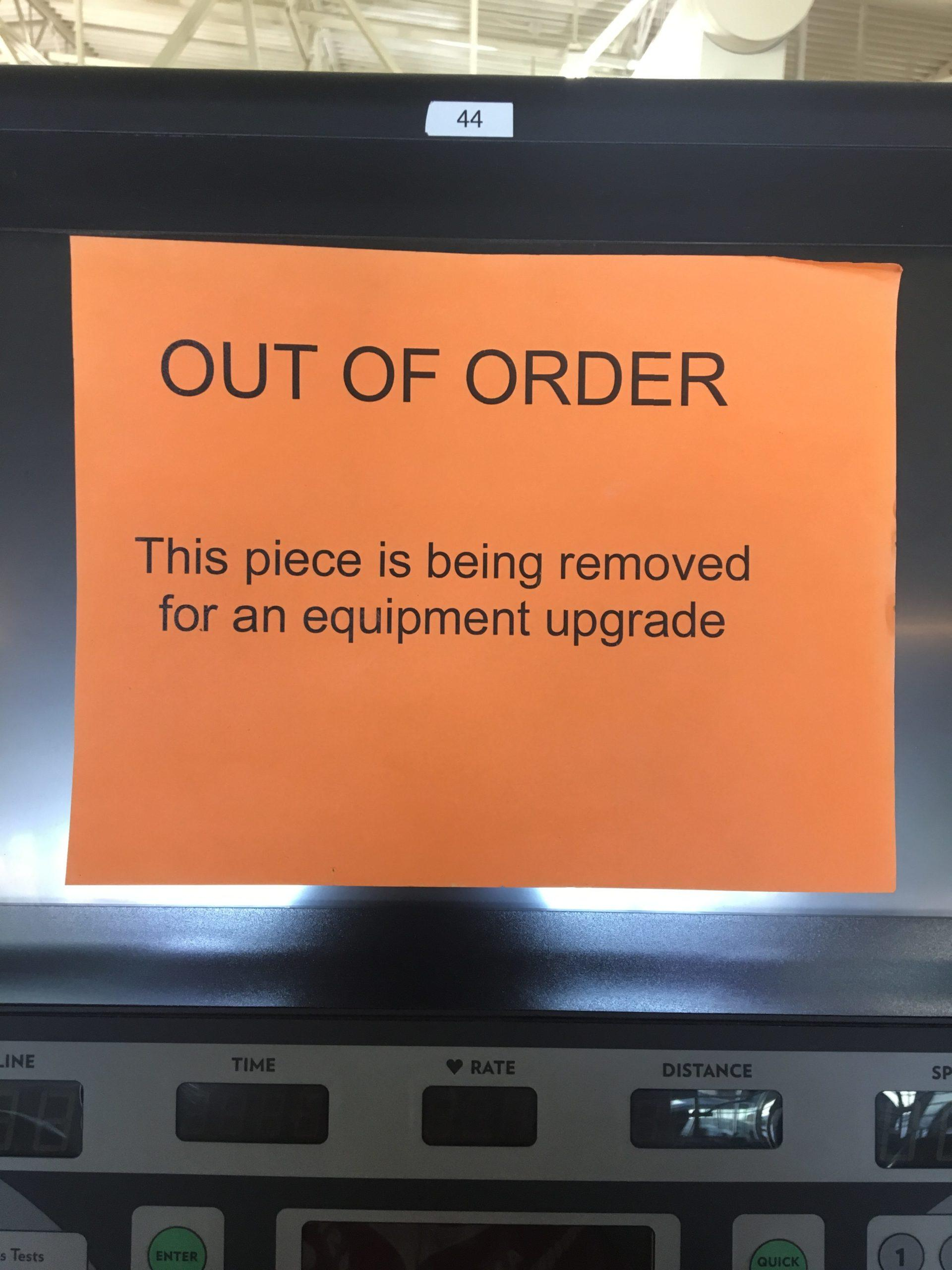 The rec center is upgrading its equipment.