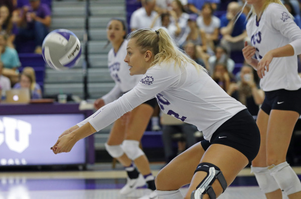 TCU volleyball opened up Big 12 Conference play against Texas Tech. (Photo courtesy: gofrogs.com)