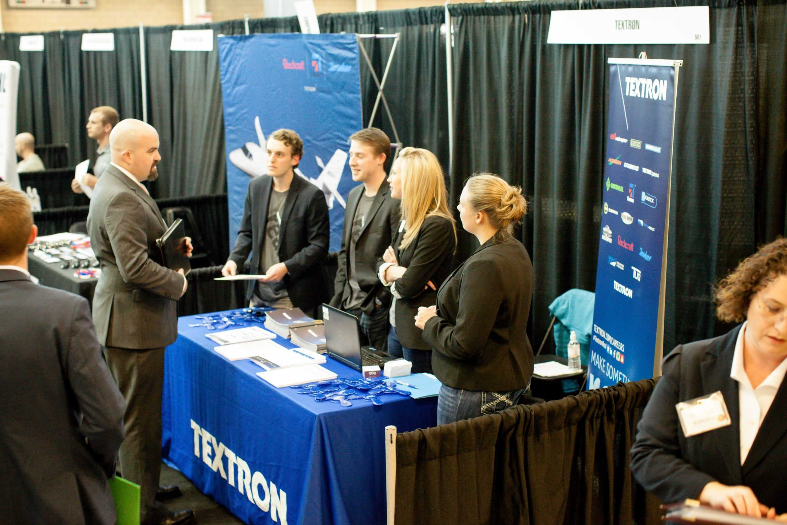 Students interact with business representatives at last year's career expo. Photo courtesy of the Center for Career and Professional Development