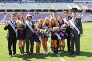 Mr. and Mrs. TCU pose alongside the other eight nominees.