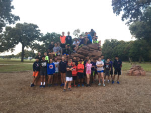 The McLean Middle School cross country team met at Trinity Park at 7am on Saturday for practice.