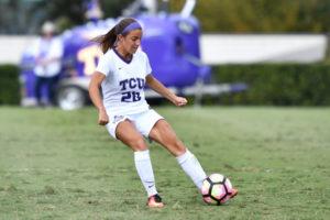 Senior midfielder Brittany Little (photo courtesy: gofrogs.com)