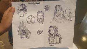 Chloe Reynaldo's sketch. She said she enjoys drawing anime for fun. (Photo courtesy of Brandon Kitchin)