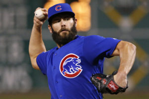 Chicago Cubs starting pitcher Jake Arrieta delivers in the second inning of a baseball game against the Pittsburgh Pirates in Pittsburgh, Wednesday, Sept. 28, 2016. (AP Photo/Gene J. Puskar)