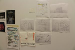 While planning the exhibition, Speed sent many drawings and ideas to Parsons. (Sam Bruton/TCU Staff Photographer)