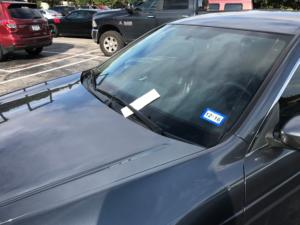 Another recipient of a parking ticket at TCU.