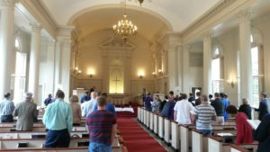 Service attendees gather in Robert Carr Chapel (Cole Polley, TCU360)